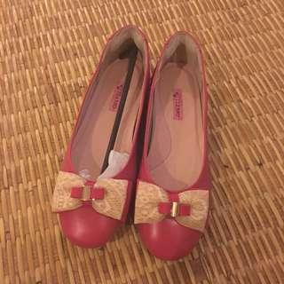 Tiamo Ballerina Flats In Pink
