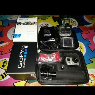 go pro hero 3 white edition complete seldom used no issue makinis.hindi q xa ma update..
