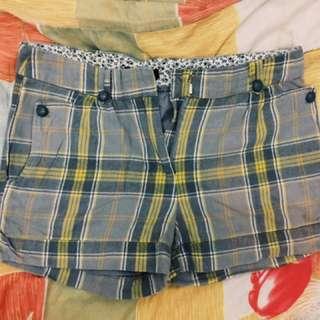 Grey & Yellow Shorts