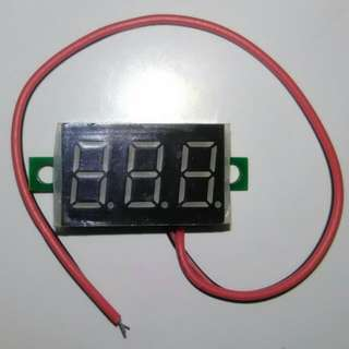 Mini Red LED Panel Voltage Meter 3-Digital Voltmeter 4.5V to 30V
