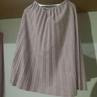 藕粉色 粉紅 百褶裙