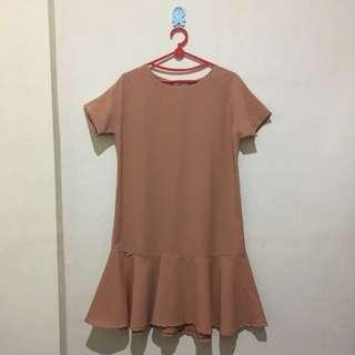 Tan Flare Dress
