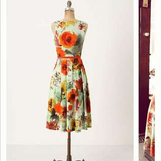 Anthropologie En Plein Air Swing Dress Size 6