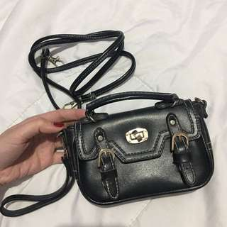 Mini Black Bag (sling bag with wristlet)