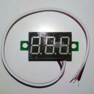 3 Wires Mini Blue LED Panel Voltage Meter 3-Digital Voltmeter 0V* to 30V