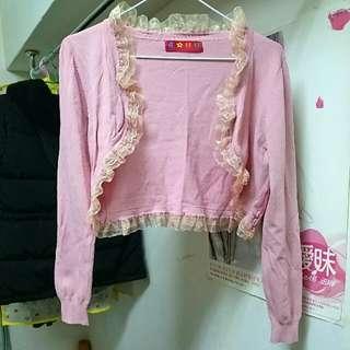 義賣#粉色短版小外套