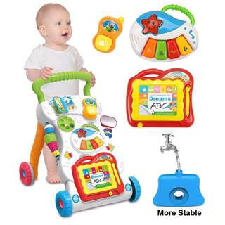 (🔥Free Postage 🔥) Baby Walker + Music Stroller And Push Car Educational Toys