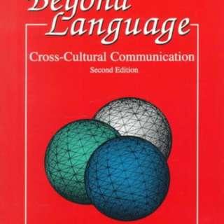 Beyond Language cross - cultural communication