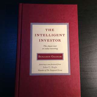 Intelligent Investor by Graham (Hardcover classic copy)