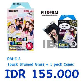 Refill Instax Twinpack Comic + Stained Glass (20sheet)