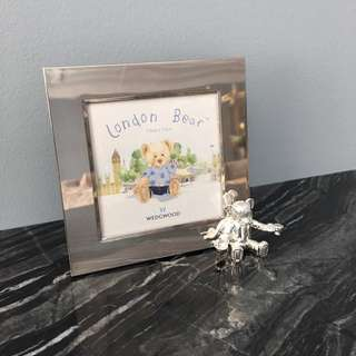 Wedgewood London Bear silver picture frame