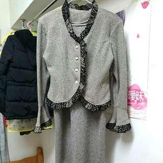 義賣#復古灰套裝