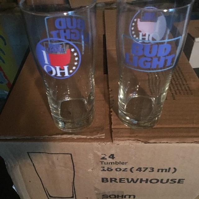 24 Bud Light I love Ohio glasses