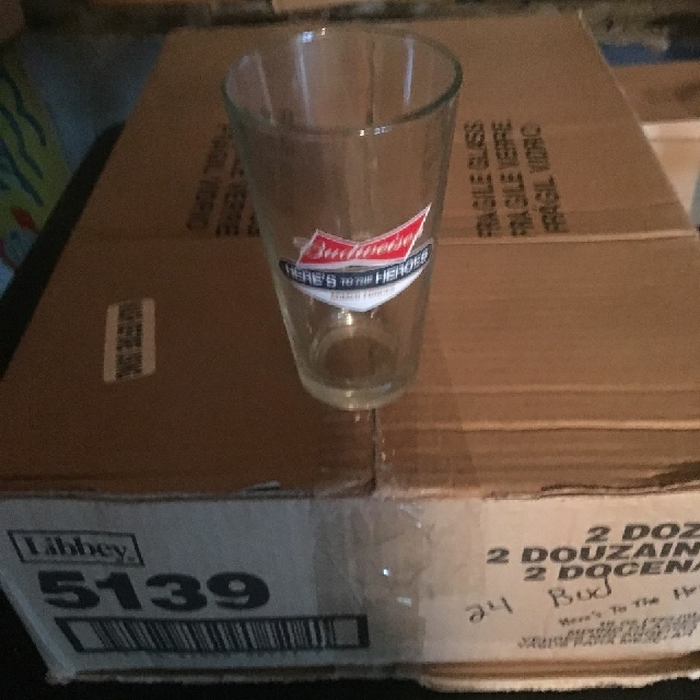 24 Budweiser Armed Forces 16 oz glasses
