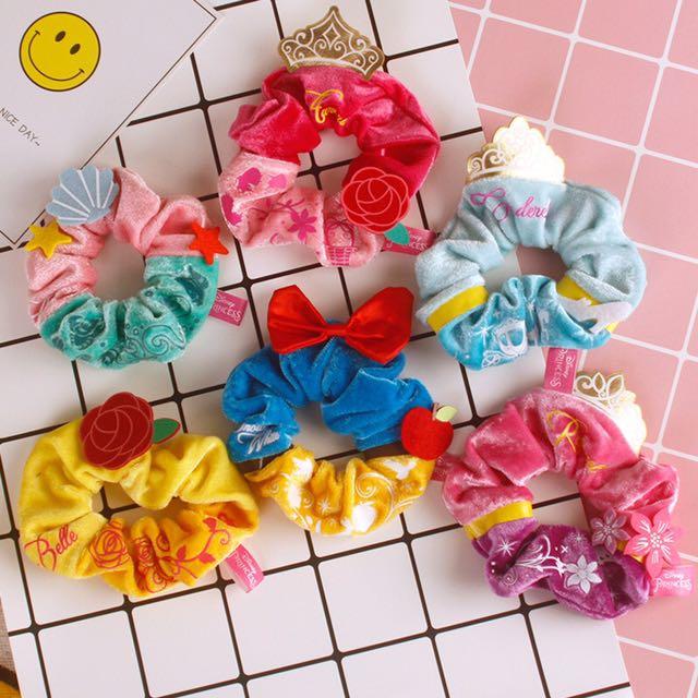 (6 in a set) Disney hair tie