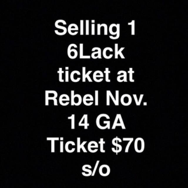 6lack, Nov 14. @ Rebel
