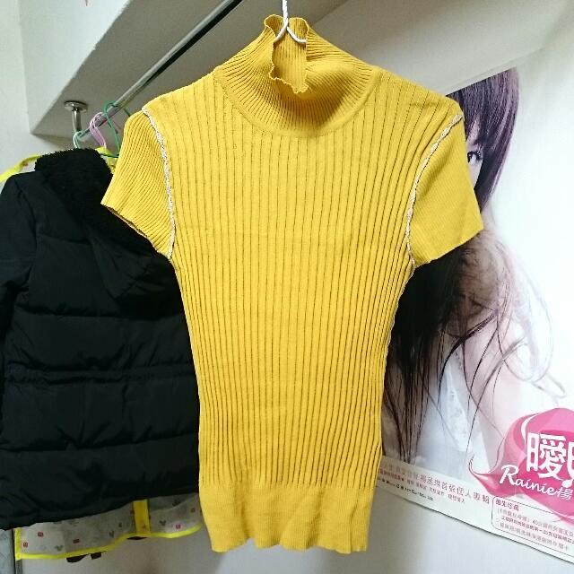 義賣#黃色無袖高領上衣