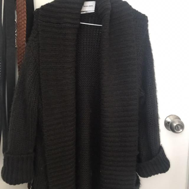 Abrand jeans woollen cardigan