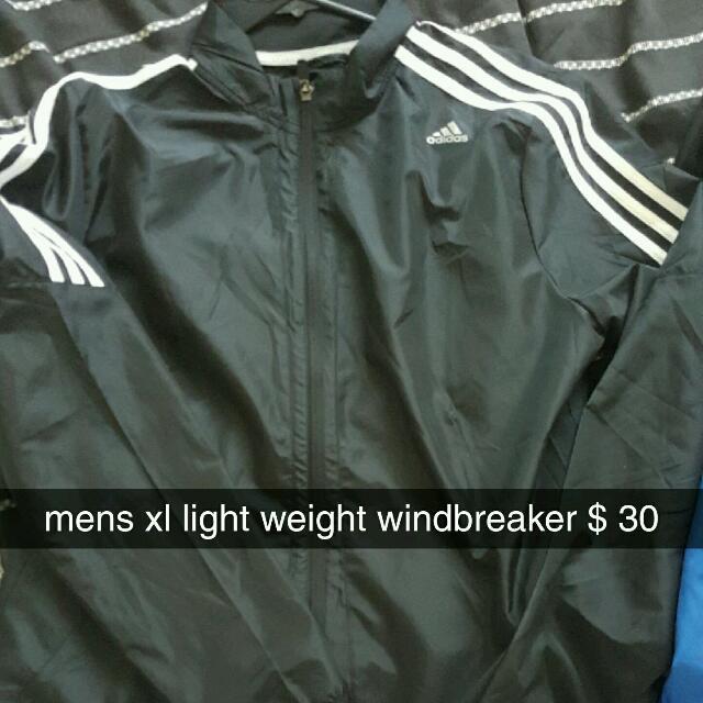 adidas light weight windbreaker
