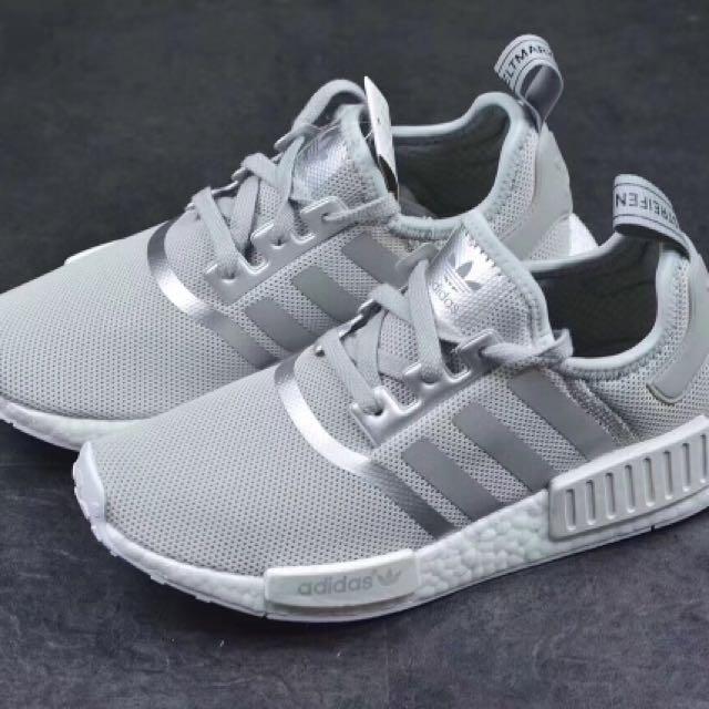 06d3d6f9d34f Adidas NMD R1 Grey Silver Boost