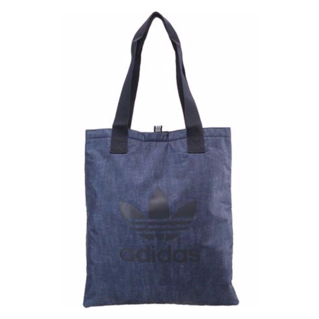 a5a71d7439c8c Adidas Unisex Originals Indigo Shopper Bag (Tote Denim Trefoil Logo Nike)