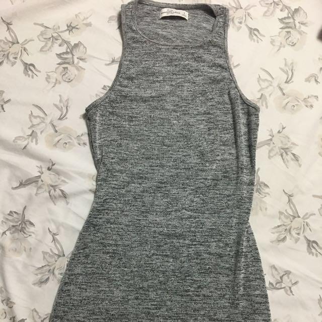 A&F Mini High Neck, Racerback, Stretch Knit Bodycon Dress