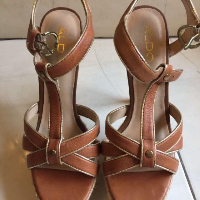 Aldo heels brown