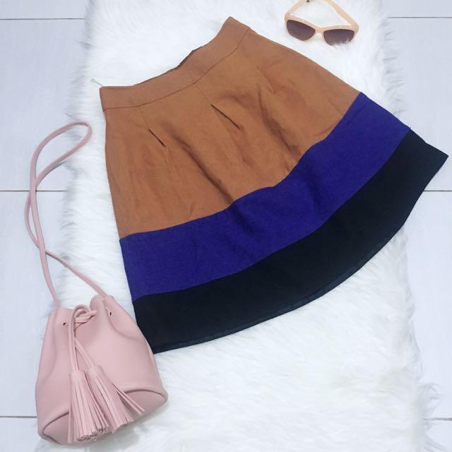 Atmosphere Color Block Skirt