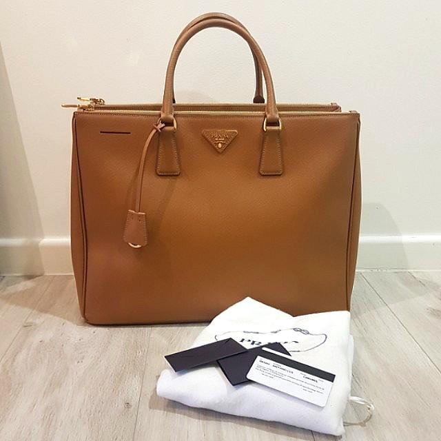 a92173007cda Authentic Brand New Prada Saffiano Lux Large Tote In Caramel, Luxury ...