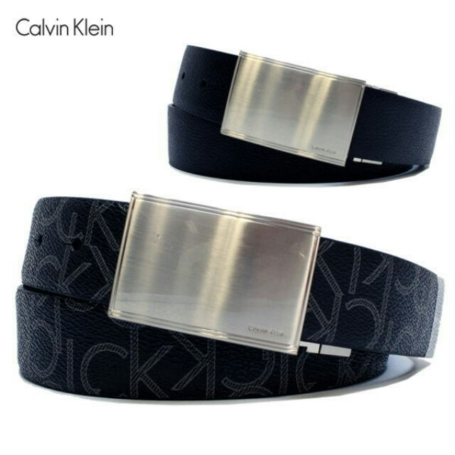 Authentic Calvin Klein CK leather belt reversible leather belt ... 57fbd81bcb8