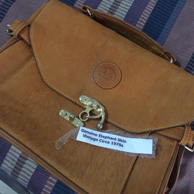 Authentic Elephant skin hand bag (VINTAGE) e66def987a1d8