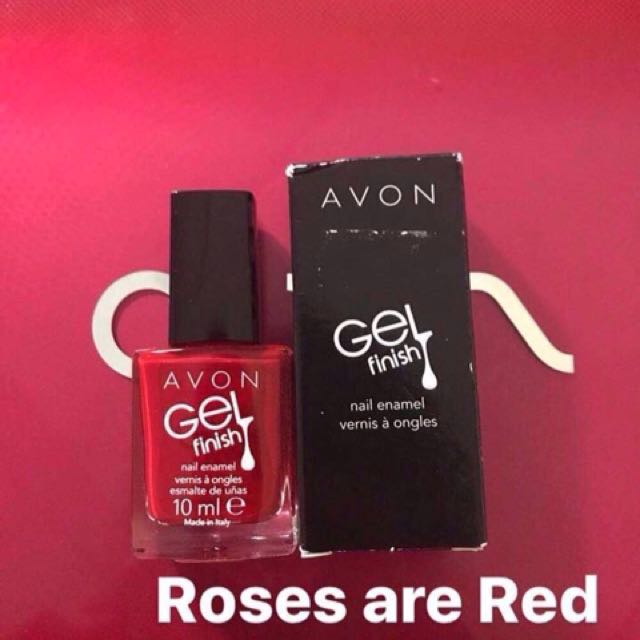 AVON Gel Finish Nail Enamel in ROSES ARE RED