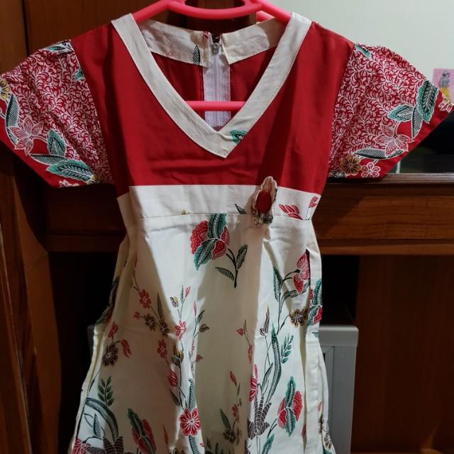 Baju Terusan Batik Anak