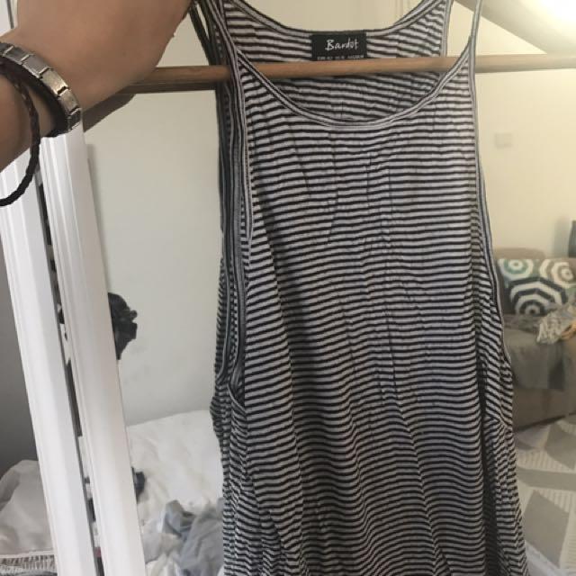 Bardot top, grey top, stussy tshirt