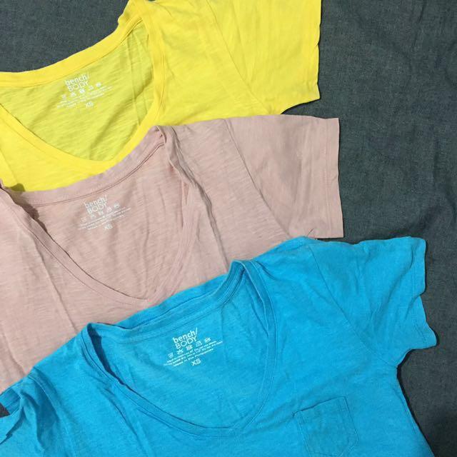 Bench Shirt x 3 w/ FREE Maong Shorts