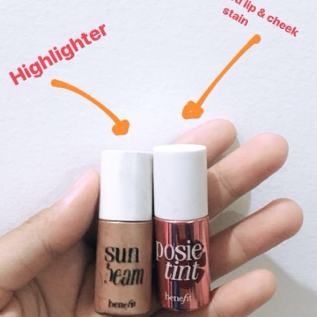 Benefit sun beam and lip tint