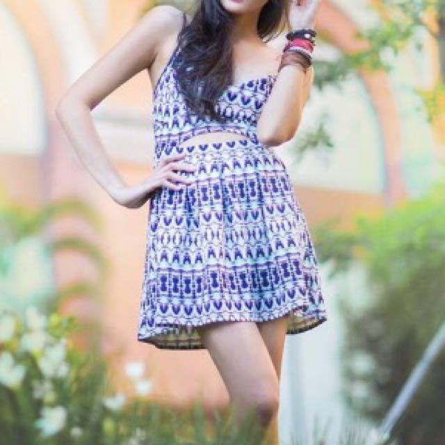 Bershka Aztec Dress