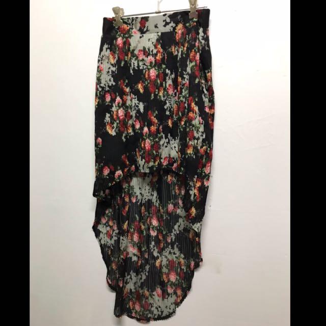 Black floral TEMT skirt