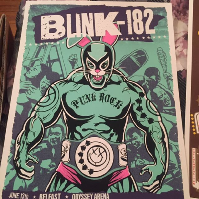 Blink 182 Tour Posters Limited Edition