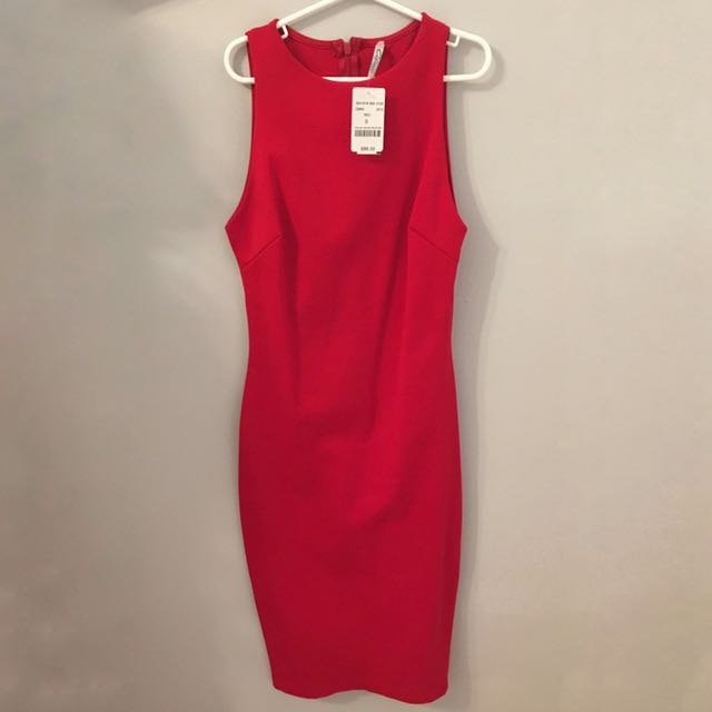 BNWT M Boutique Red Bodycon Dress