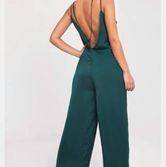 Brand new, Pretty little thing green jumpsuit size 10