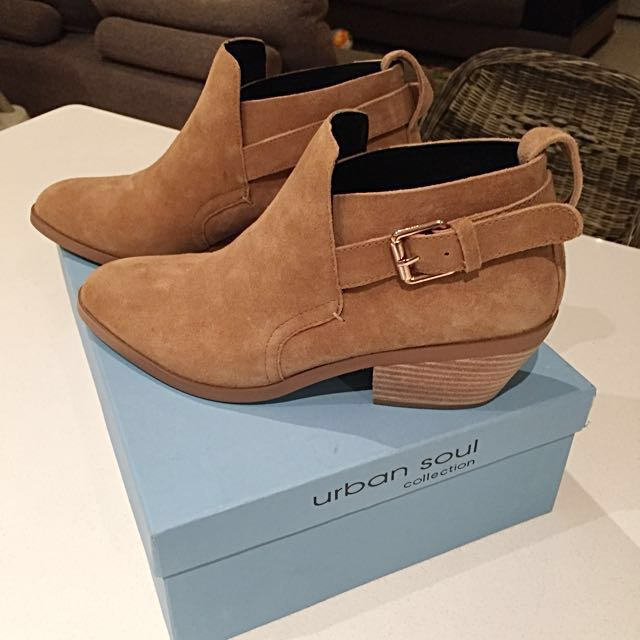 Brand New Urban Soul Suede Ankle Boots Size 38