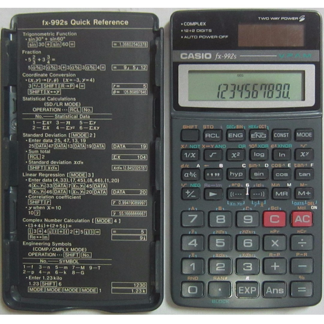 casio fx 992s v p a m scientific calculator with box and manual rh sg carousell com casio fx-992s user manual casio fx-992s user manual
