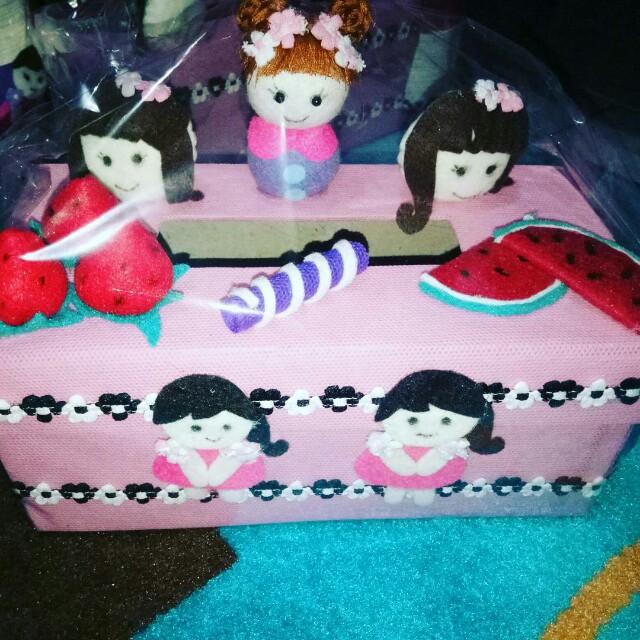 Celengan tempat pensil tempat tisu boneka lucu, Design & Craft, Handmade Goods & Accessories on Carousell