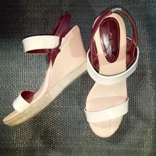 Repriced* CLN Celine Wedge Sandals