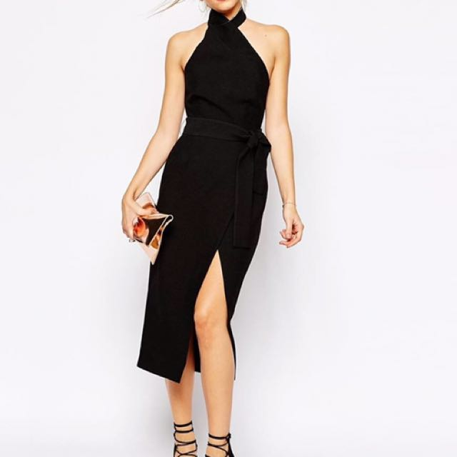 c/meo collective black robe dress