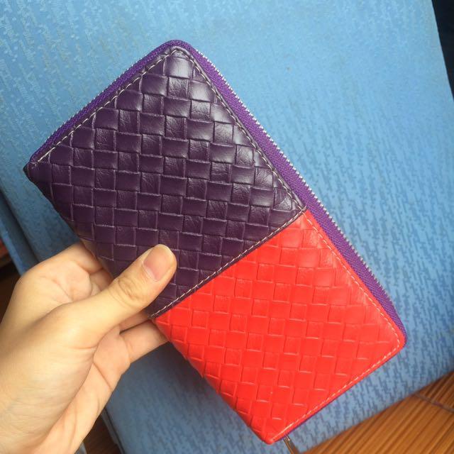 Dompet rajut merah ungu / red and purple wallet