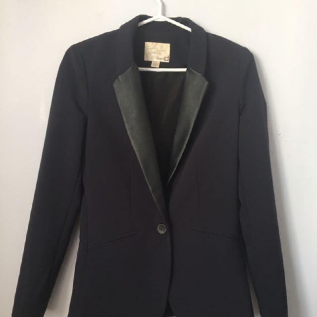Dynamite black leather blazer