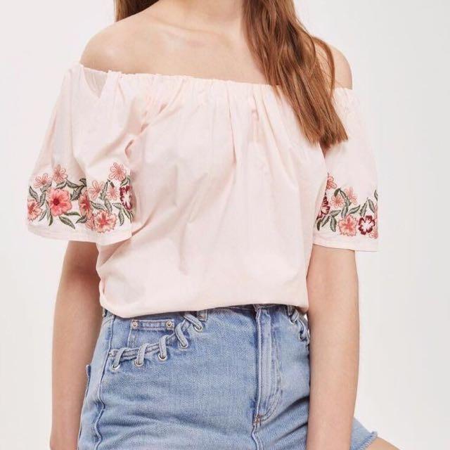 Embroidered Off shoulder