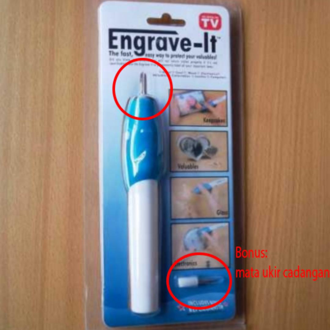 Engrave It Pen Alat Ukir Elektrik (lengkap dengan 2 mata ukir, Home & Furniture on Carousell